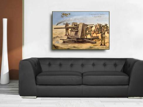 Afrika Korps, Militär, Gemälde, Bilder, Poster, Lukas wirp