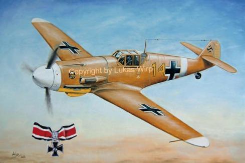 Deutsche Messerschmitt ME Bf 109 Jagdflugzeug Ritterkreuz