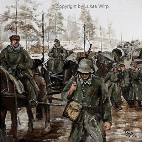 1. Weltkrieg, Bilder, Militär, Maler, Lukas Wirp