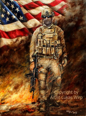 Military, art, painting, Lukas wirp