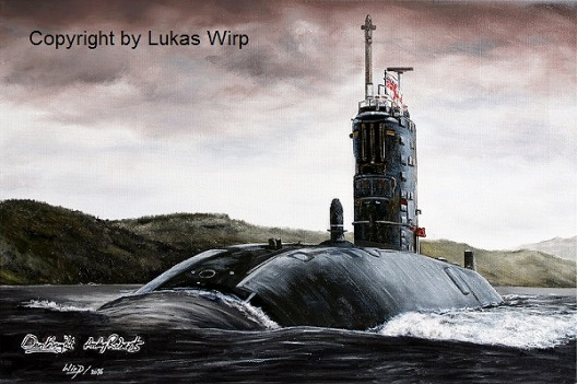 artpainter, Lukas Wirp, UK, nuclear , submarine, pictures
