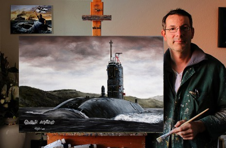 Nuclear Submarine, Royal Navy, art, poster, picture