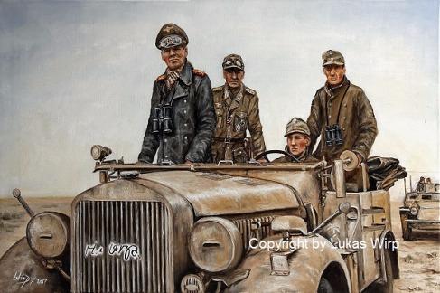 Bilder, Afrika Korps, Rommel, Kunst, KFZ